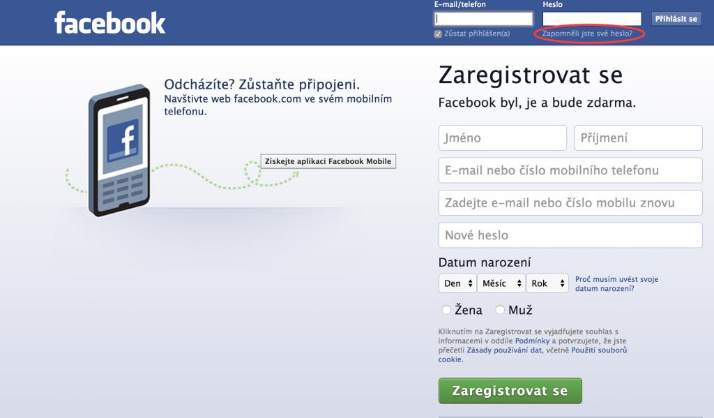Jak získat heslo na Facebook?